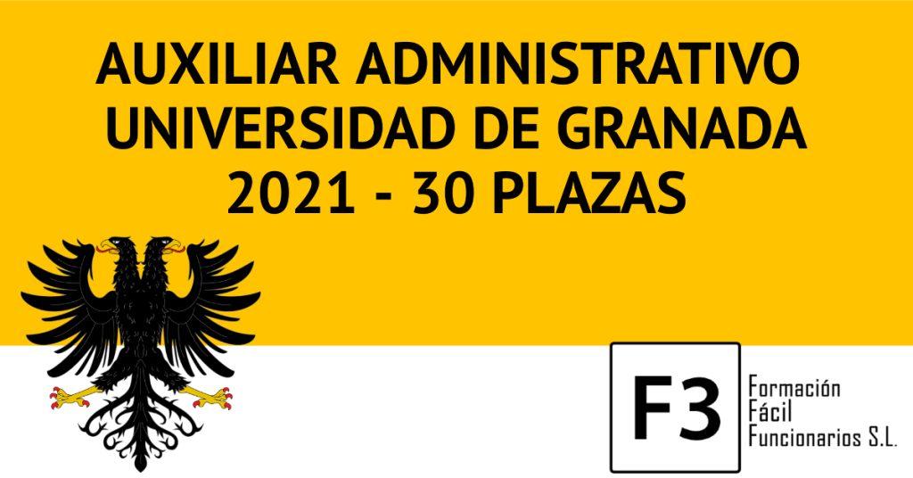 Oposiciones Auxiliar Administrativo Universidad de Granada 2020