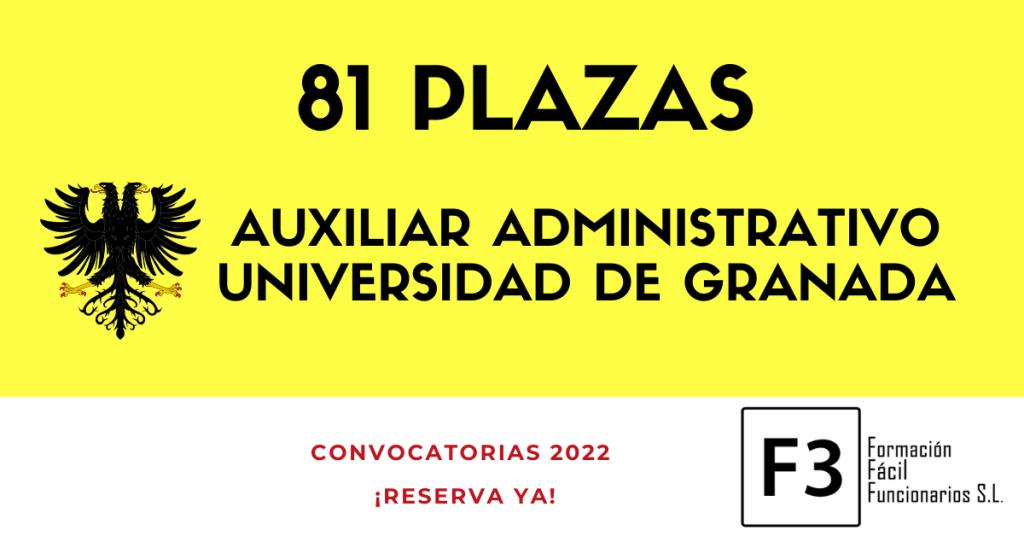 Oposiciones Auxiliar Administrativo Universidad de Granada 2022